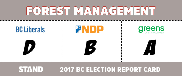 bc6828e85f4f0 While both the Greens and the NDP get top marks for promoting  ecosystems-based forest management approaches championed by Stand