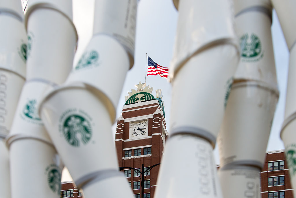 Starbucks Cup Wall