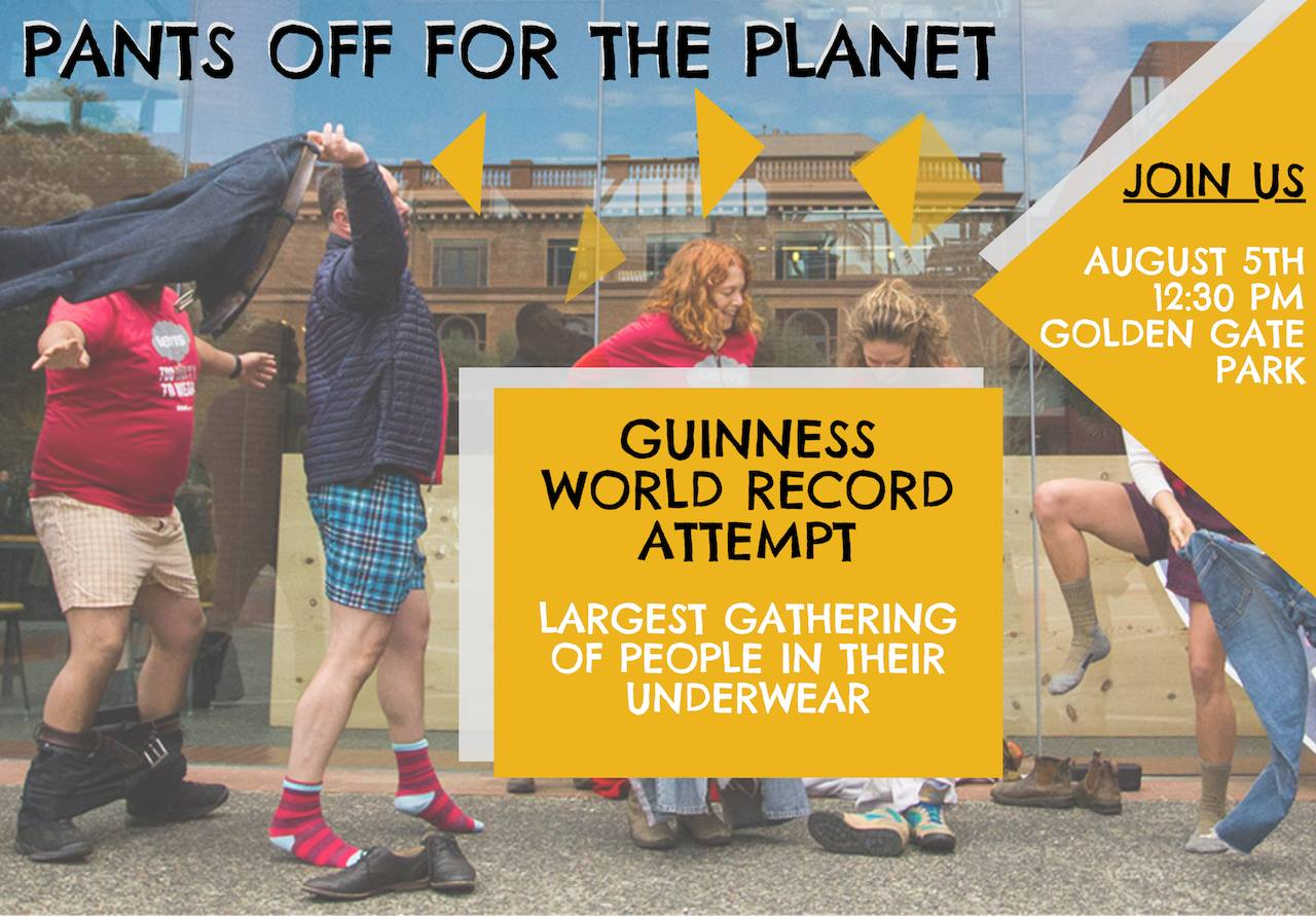 Pants off for the Planet Poster