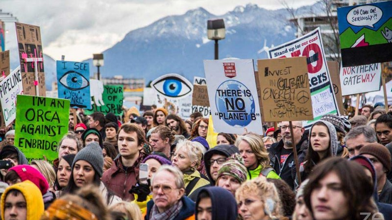 People rally in to stop the Northern Gateway Pipeline