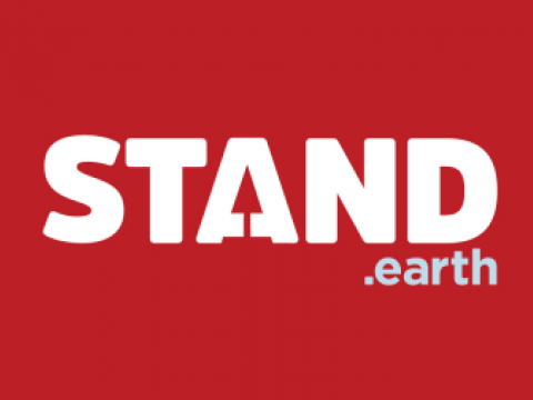 Stand.earth header with logo