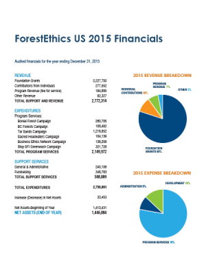 ForestEthics US 2015 Financials