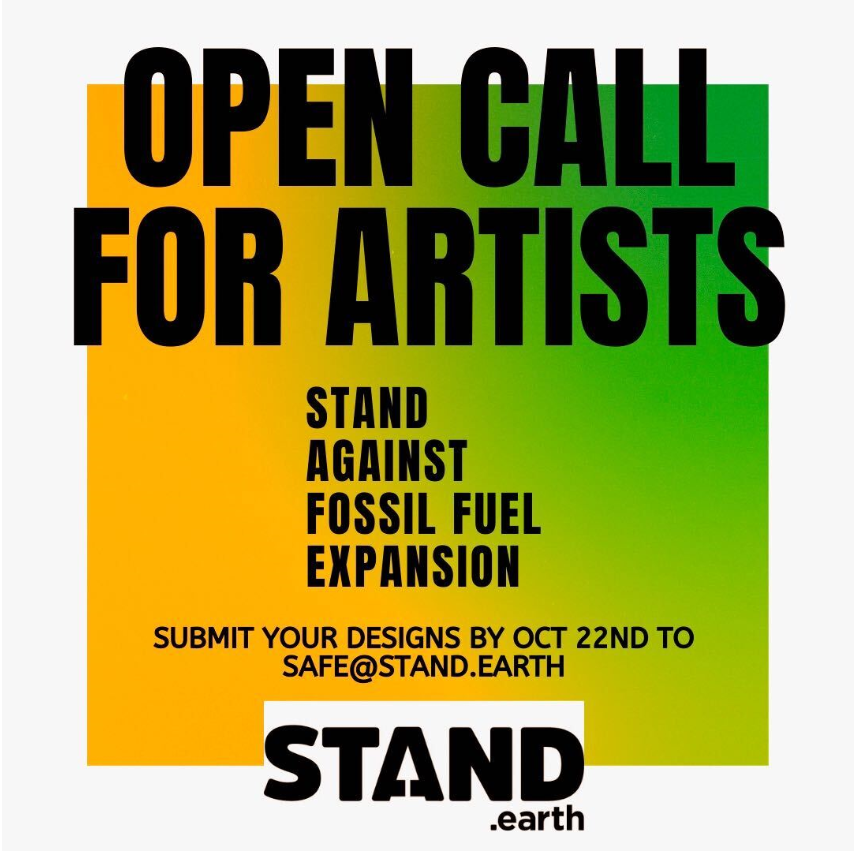 An open call for artists graphic
