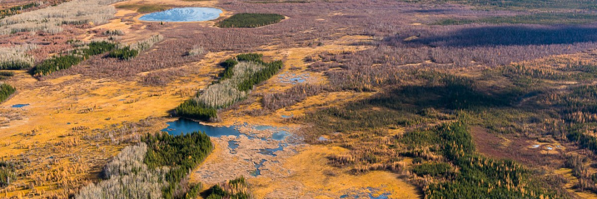 Proposed Teck Frontier mine site and area to be impacted, Photo by Garth Lenz.