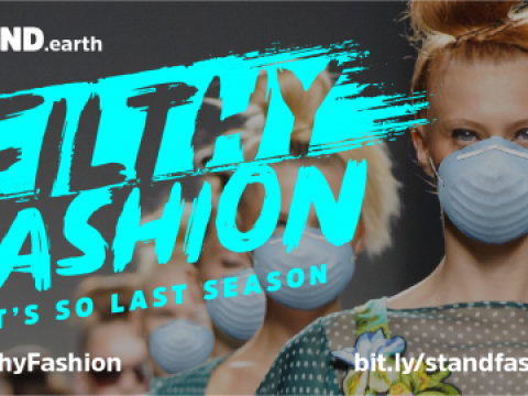 Filthy fashion-models down runway