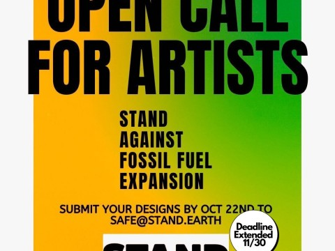 Open Call for Artists graphic by @auroraloveofficial, member of @fewandfarwomen