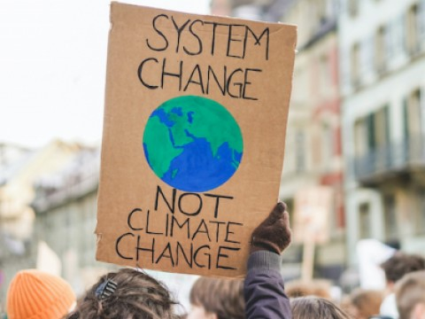 Sign: System change not climate change
