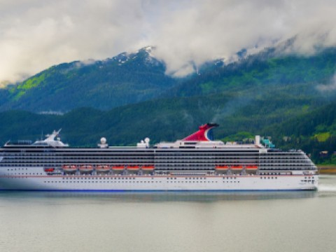 A Carnival ship in Juneau