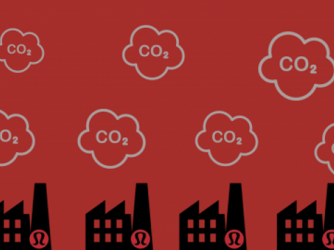 Factories of Lululemon releasing emissions from coal usage