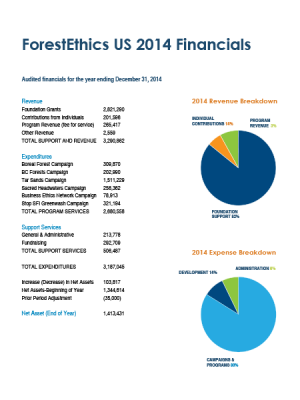 Cover Image of the 2014 Financials